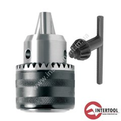 Патрон для дрели с ключем InterTool ST-1223, M12*1.25, 1.5-13 мм Патрон для дрели с ключем M12 * 1.25, 1.5-13 мм